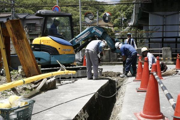 ガス漏れ修繕工事