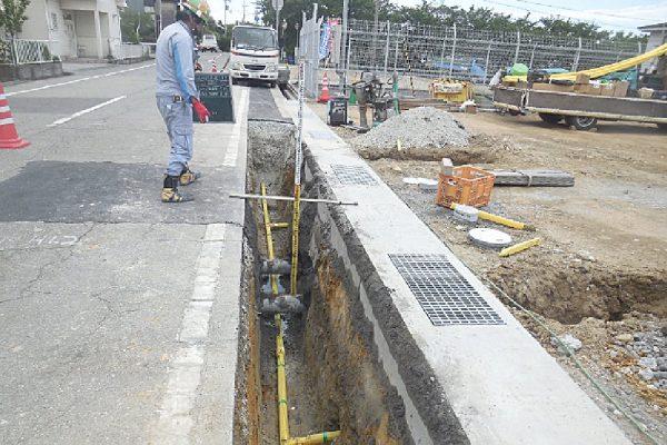 2020年度 加古郡播磨町野添城 造成地前道路新設配管工事